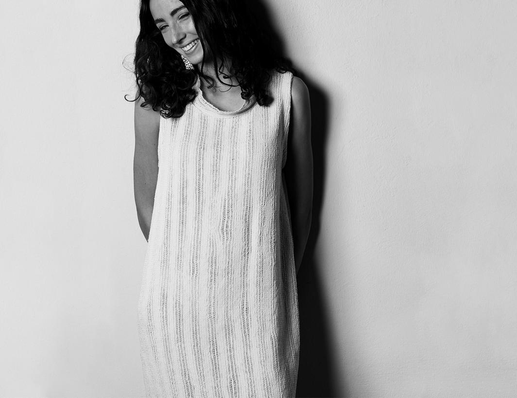 LLINA kjole i ren bomull natur
