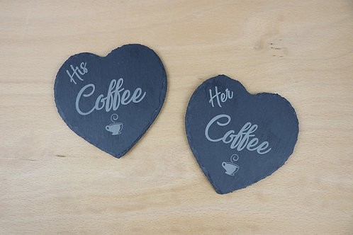 His & hers coffee coasters