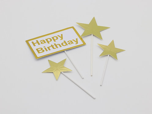 Happy birthday sign & stars