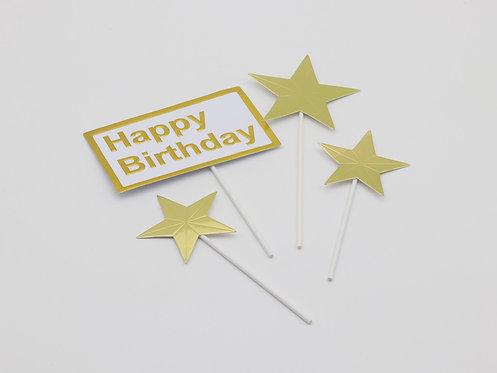 Happy birthday sign & stars