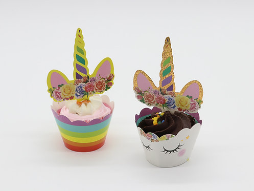 Unicorn toppers & cases - double sided