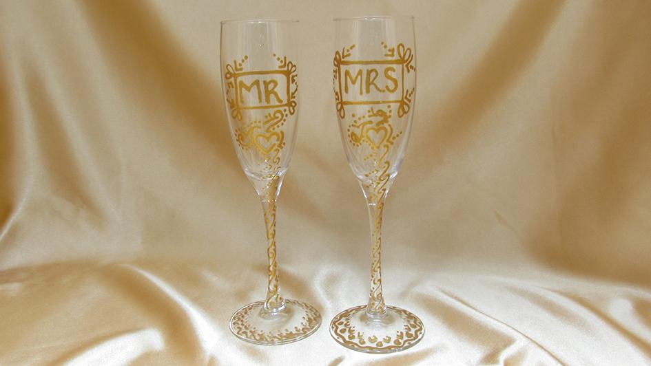 wedding glasses design