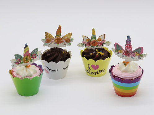 Unicorn toppers & cases - quad style