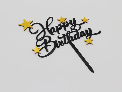 Star happy birthday topper
