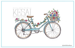 Flowers on a Blue Bicycle 2017