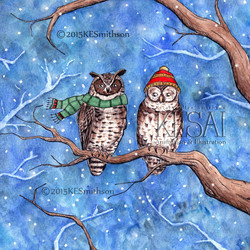 Owls wrapped up warm