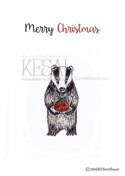 Badger & his Christmas Pudding