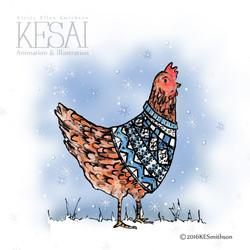hen - wearing jumper logo2
