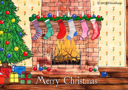 Christmas Stockings by the Fire