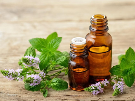 Oils and herbs for gargling soaking and two recipes for rinsing vinegar and scrub