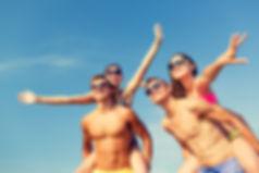 friendship, sea, summer vacation, holida
