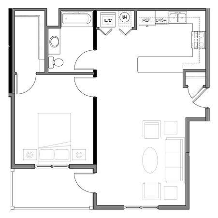 Floor plan - 1 Bedroom.jpg