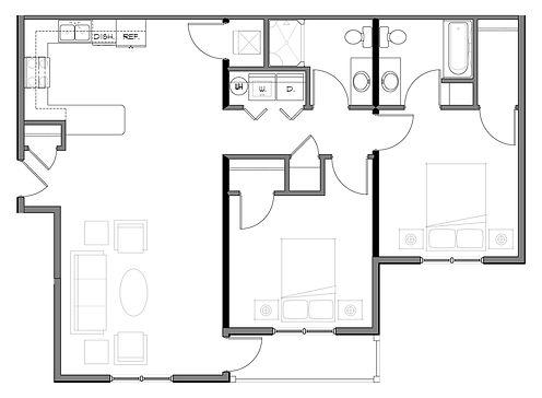 Floor plan - 2 Bedroom.jpg