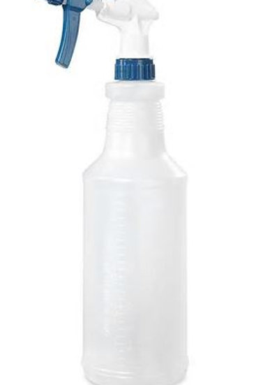 Spray bottle with instruction to prepare your bleach solution for Coronavirus