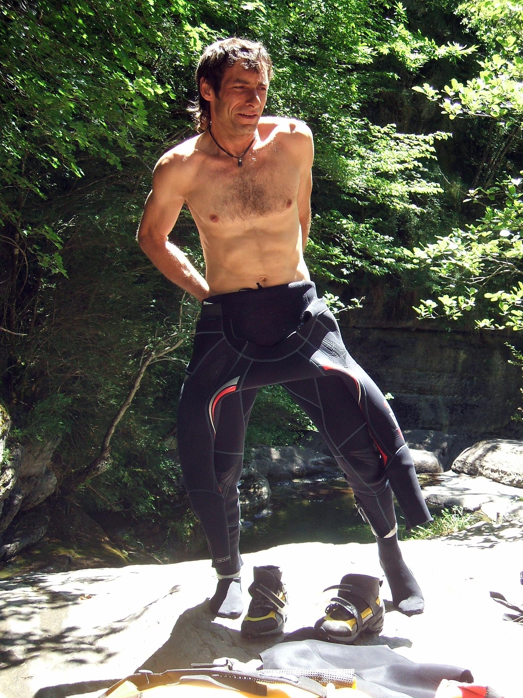 Gilles en canyon