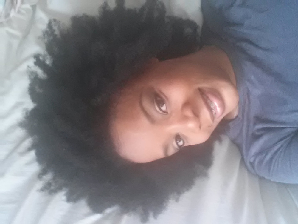 Meochia Thompson 3 years into her Natural Hair Journey.
