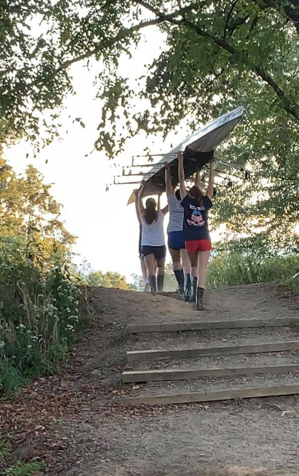 Girls up the hill
