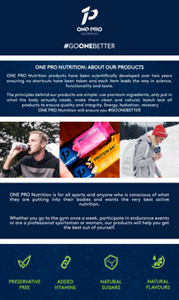 Generic A+ Content created by CAOSS for One Pro Nutrition