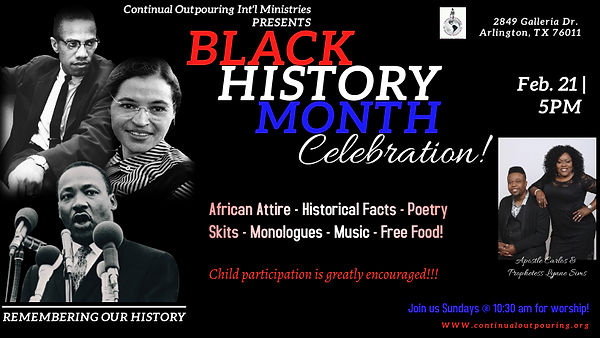 COIM Black History Month Flyer - Made wi
