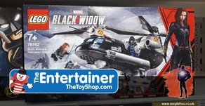 On The Pegs : Black Widow movie Lego Set at The Entertainer