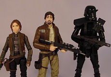 Star Wars Black Series Rogue One 3 Pack, Jyn Erso, Cassian Andor, Deathtrooper