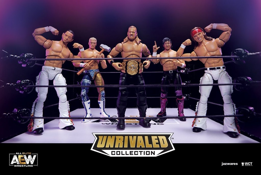 jazwares aew all elite wrestling unrivaled collection action figures