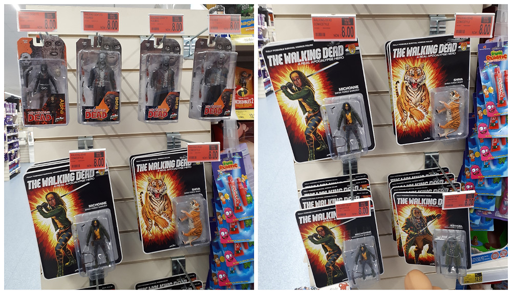 The walking dead action figures at B&M stores