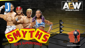 Jazwares AEW Action Figures are heading to Smyths Toys in the UK