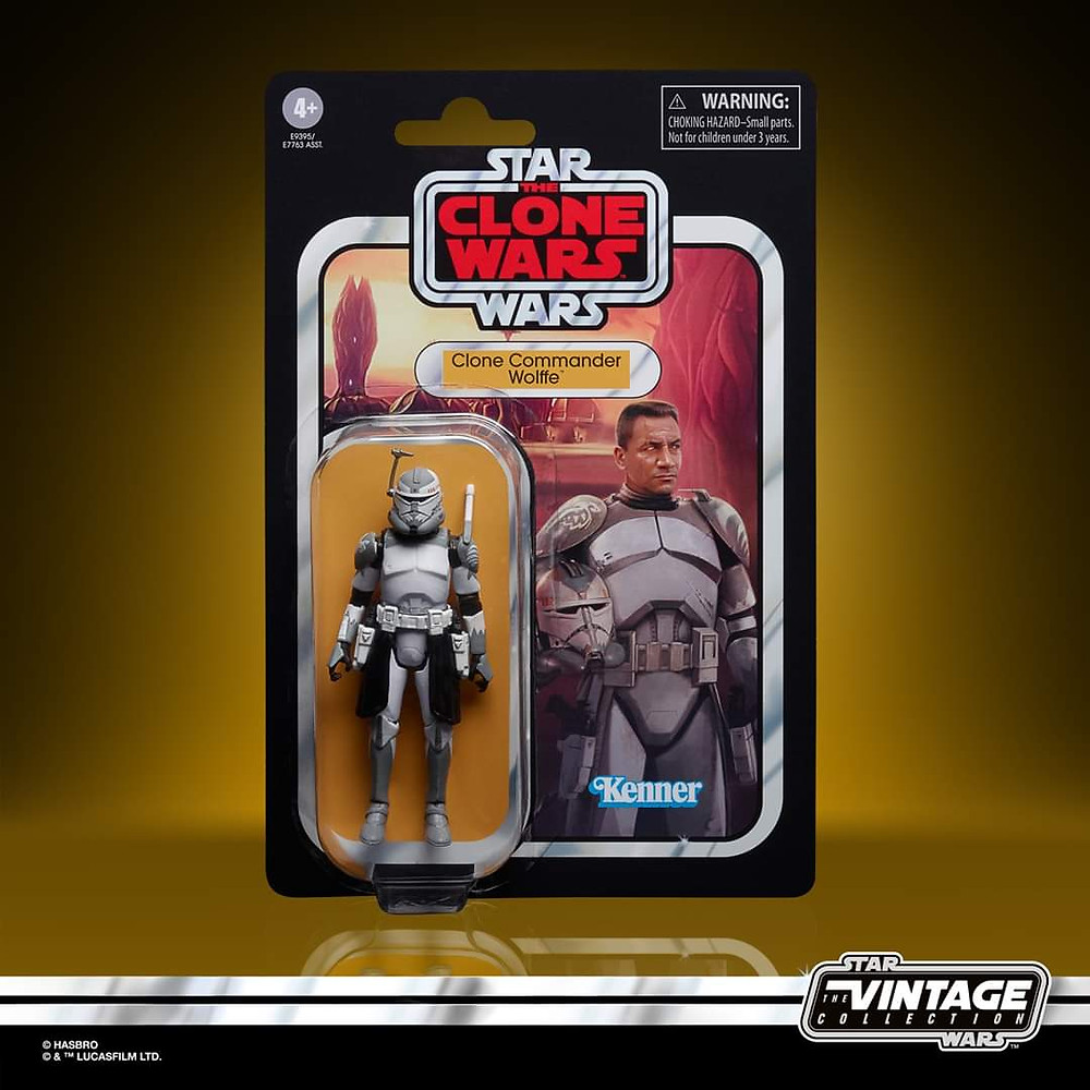 star wars vintage collection clone commander wolffe, the clone wars, action figure