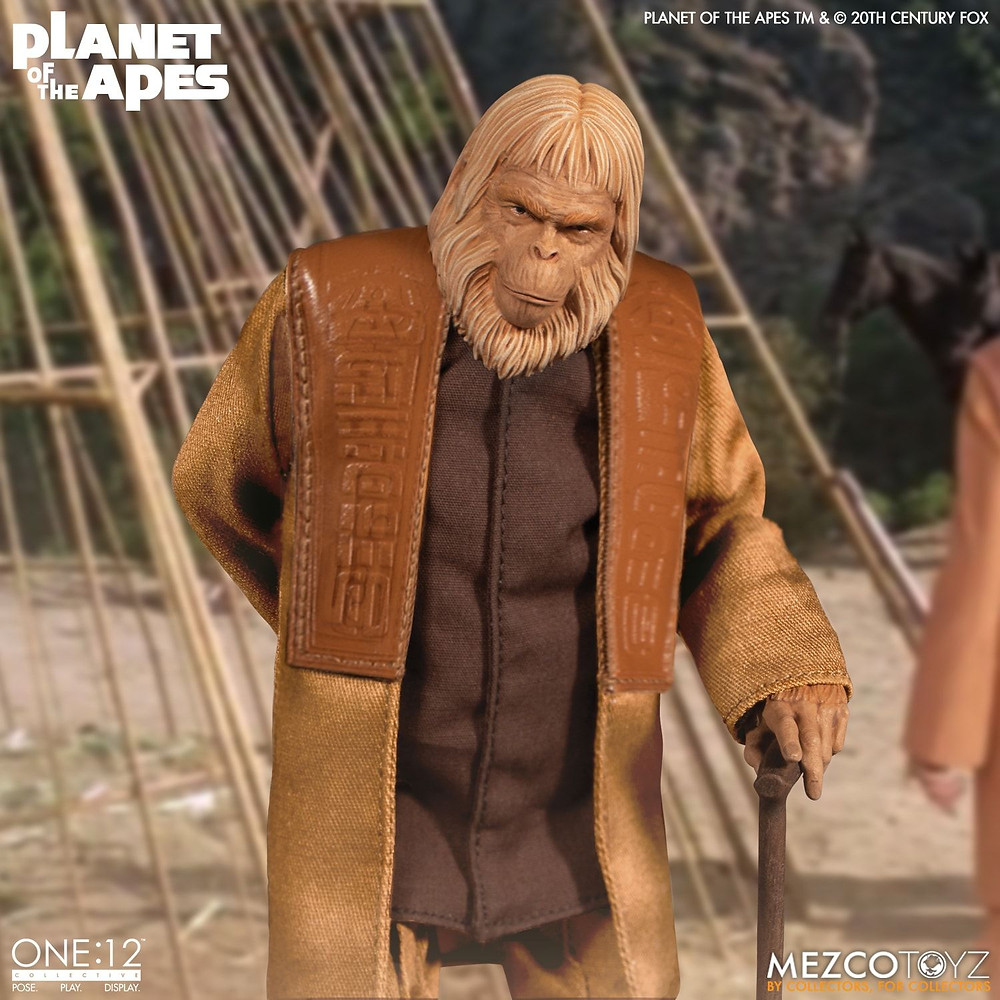 mezco one 12 collective planet of the apes doctor zaius action figure