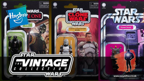 Hasbro reveal packaged shots for Star Wars Vintage collection Gonk Droid, Wolffe and K-2SO