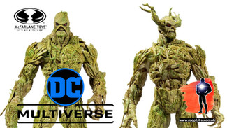 McFarlane DC Multiverse Swamp Thing Megafig release and Gamestop Exclusive Variant