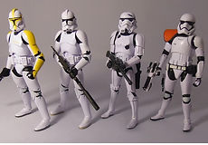 Star Wars Black Series Amazon Evolution of the Stormtrooper 4 pack