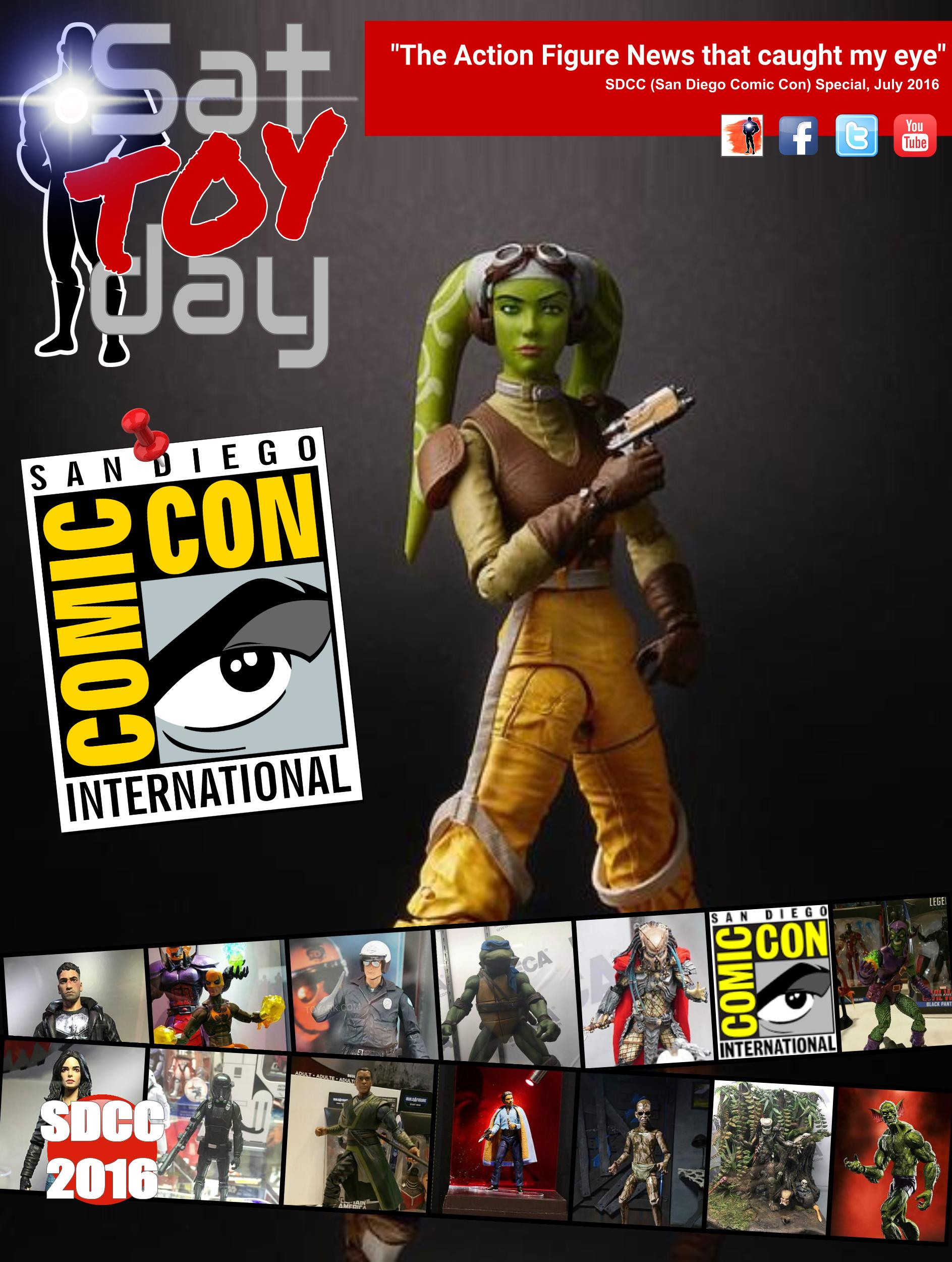 033b Action Figure Sat-TOY-day News, SDCC 2016 Special