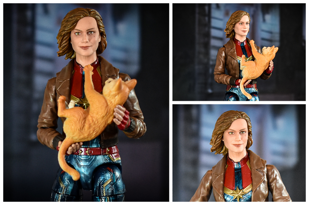 Hasbro Marvel Legends Captain Marvel in Jacket with Goose