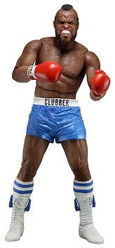 Clubber Lang, blue shorts