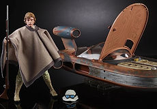 Star Wars Black Series SDCC Luke Skywalker and Landspeeder
