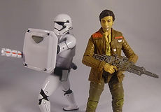Star Wars Black Series Poe Dameron and First Order Riot Stormtrooper