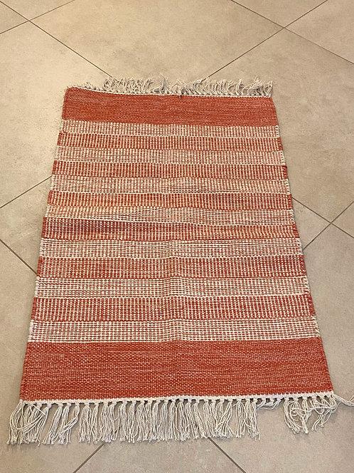 Tappeto in Cotone - rosso a righe