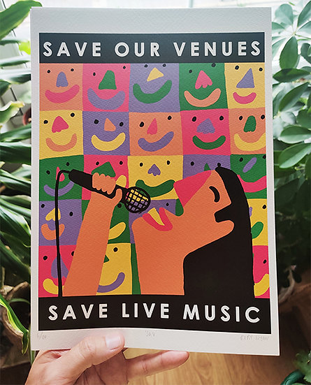 'Save Our Venues' A4