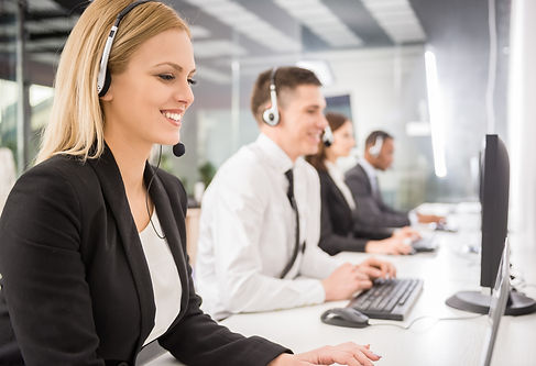call center employees helping clients