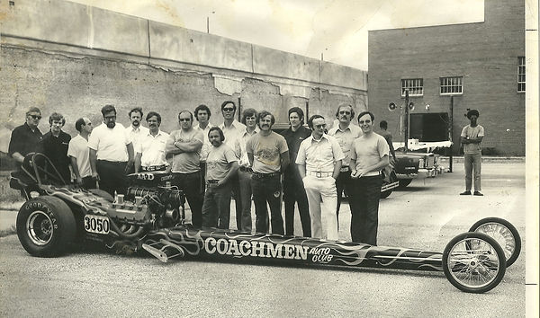 Coachmen Auto Club, Vintage Photos, Dragster, Coachmen Members, Cavalcade of Wheels, Custome Build, Racing, South Bend, Indiana,