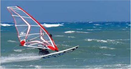 Windsurfing at La Franqui
