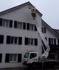 Lavage de façade à haute pression