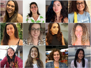 Ana Beatriz, Ana Clara, Cecília, Gabriela, Giovana, Giulia, Karen, Lara, Lara, Mariana, Marina e Wenya. UFRJ Nautilus
