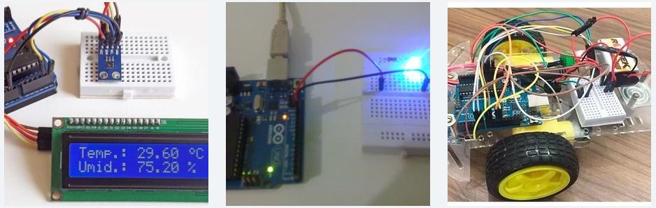 Figura 2: Display LCD, Led, Seguidor de Linha. UFRJ Nautilus