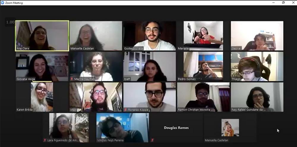 Reunião online da equipe. UFRJ Nautilus