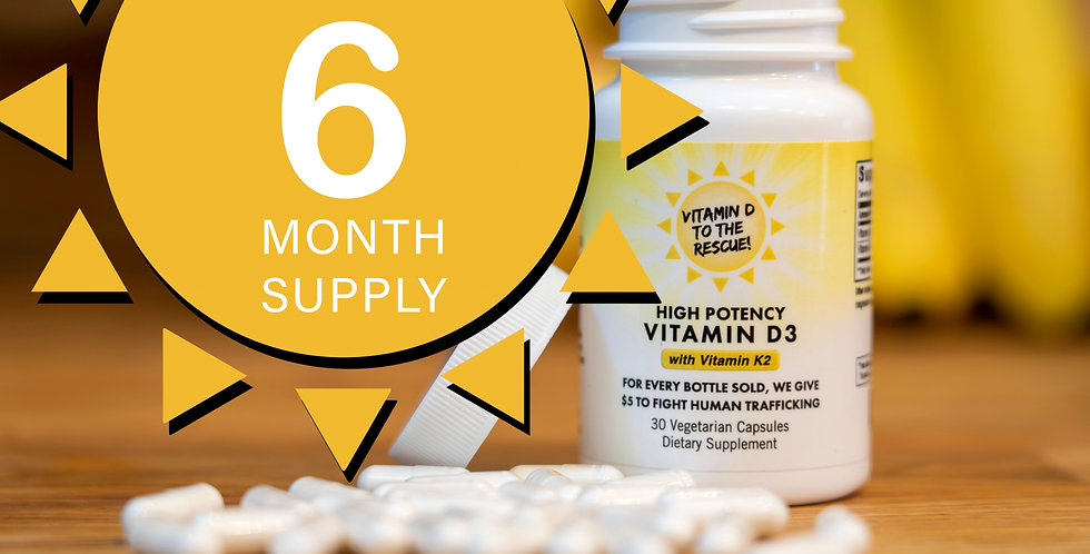 Vitamin D3 With K2  |  6 Month Supply