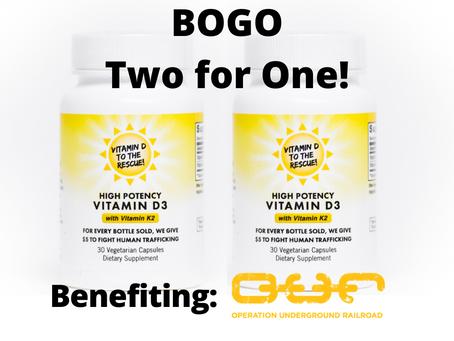 BOGO benefiting O.U.R.
