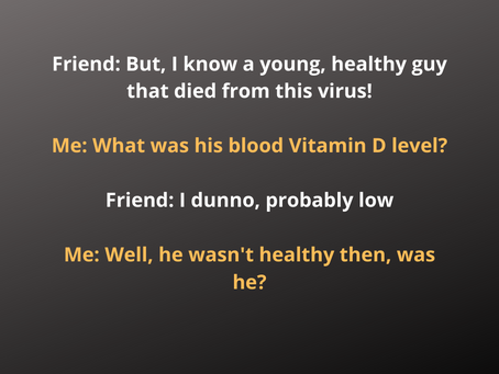 Was he actually healthy?